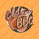 Kreatives Logodesign mit den Hühnerbeinen Auch im corel abgehobenen Betrag Lizenzfreie Abbildung