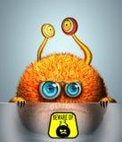 Kreatives lustiges orange Monster Lizenzfreie Stockfotos