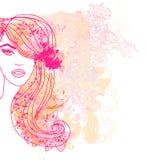 Kreatives Modeporträt Stockfoto