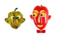 Kreatives Nahrungsmittelkonzept Positive und negative Porträts gemacht von g Lizenzfreie Stockfotografie