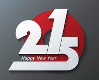 Kreatives neues Jahr 2015 des Grußkartendesigns Stockfotos