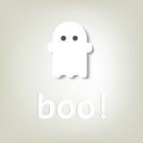 Kreatives Plakat für Halloween. wenig Geist lizenzfreie stockbilder