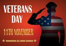 Kreatives Plakatdesign für Veteranentag stock abbildung