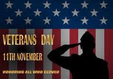 Kreatives Plakatdesign für Veteranentag lizenzfreie abbildung