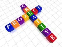 Kreatives Projekt der Farbe mögen Kreuzworträtsel lizenzfreie abbildung
