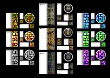 Kreatives Schablonen-Karten-Tasten-Set Stockfoto