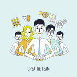 Kreatives Teamkonzept Lizenzfreies Stockfoto