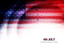 Kreatives Thema-Hintergrunddesign der amerikanischen Flagge für Stockfoto