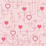Kreatives Valentinstag Seamles-Muster Stockfotografie