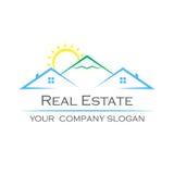 Kreatives Vektorlogo Real Estate-Ikone Stockfoto