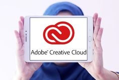 Kreatives Wolkenlogo Adobes stockfoto