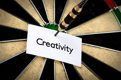 Kreativität auf Pfeil! Lizenzfreie Stockfotografie