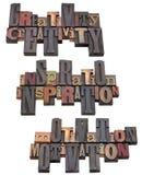 Kreativität, Inspiration und Beweggrund Lizenzfreies Stockfoto
