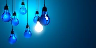 Kreativität-Konzept mit Glühlampe Stockbild