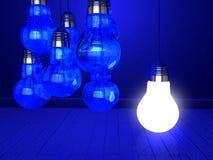 Kreativität-Konzept mit Glühlampe Lizenzfreie Stockfotografie