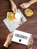 KREATIVITÄT kreativer und Design-denkender Innovationsprozess und i stockfoto