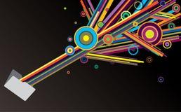 Kreativitätsordner Stockbild