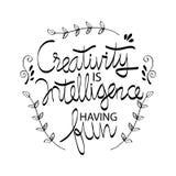 Kreativitet är intelligens som har gyckel royaltyfri illustrationer