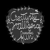 Kreativitet är intelligens som har gyckel vektor illustrationer
