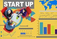 Kreativitet för vision för innovation för strategi för affärsplan Conc Startup Royaltyfria Foton