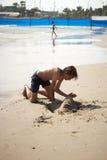 Kreativitet på beach4en Arkivfoto