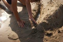 Kreativitet på beach5en Arkivfoton