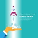Kreativitet på handen stock illustrationer