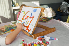 Kreativiteten av barn Arkivbild