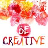 Kreativitetvattenfärgbegrepp Fotografering för Bildbyråer