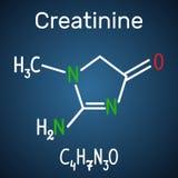 Kreatyniny molekuła Formalnie chemiczna formuła mo i molekuła ilustracji