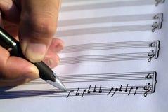 kreatywne pisanie muzyki. Obraz Stock
