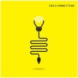 Kreatywnie żarówka z wifi podłączeniowymi ikonami dla biznesu lub c Zdjęcia Royalty Free