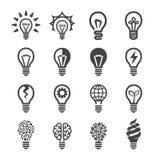 Kreatywnie żarówki ikony set royalty ilustracja