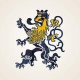 Kreatywnie Abstrakcjonistyczna lwa loga projekta ilustracja obraz royalty free