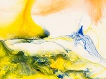Kreatywnie abstrakcjonistyczna ręka malujący tło ilustracja wektor