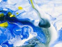 Kreatywnie abstrakcjonistyczna ręka malujący tło Fotografia Stock
