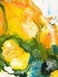 Kreatywnie abstrakcjonistyczna ręka malujący tło Obraz Stock
