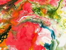 Kreatywnie abstrakcjonistyczna ręka malujący tło Obrazy Royalty Free