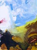 Kreatywnie abstrakcjonistyczna ręka malujący tło Obraz Royalty Free