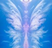 Kreatywnie abstrakcjonistyczny anioła kształt obraz stock