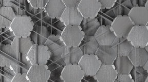 Kreatywnie Abstrakcjonistyczny kształta aluminium tło Fotografia Royalty Free