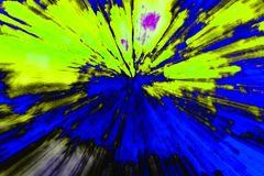 Kreatywnie abstrakcjonistyczny tła przypomnienie wybuch zdjęcie stock