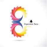 Kreatywnie abstrakcjonistyczny wektorowy loga projekta szablon Korporacyjny biznes Fotografia Royalty Free