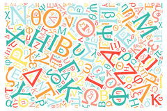 Kreatywnie alfabet grecki tekstury tło ilustracja wektor