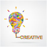 Kreatywnie żarówka pomysłu pojęcia tło. Obrazy Stock