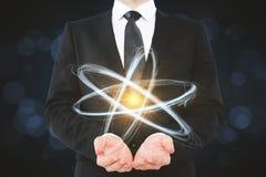 Kreatywnie atom tapeta Obrazy Stock