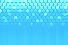 Kreatywnie błękitny heksagonalny tło royalty ilustracja