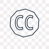 Kreatywnie błoń wektorowa ikona odizolowywająca na przejrzystym tle, royalty ilustracja