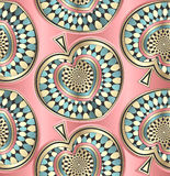 Kreatywnie bezszwowa dekoracyjna tapeta Obraz Royalty Free