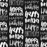 Kreatywnie bezszwowy wzór z urodzinowymi powitaniami ilustracji